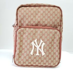 Gucci GG Supreme Backpack - Beige